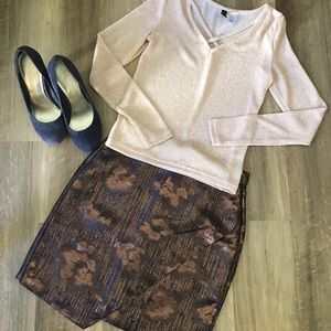 H&M Sparkly Knit Top and Miniskirt Set